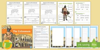 The Colosseum Lesson Pack - Romanos, Ancient Romans, Arquitectura, Architecture, Ancient History, Imperio Romano, Roman Empire ,