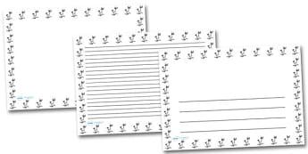 Exercise Bike Landscape Page Borders- Landscape Page Borders - Page border, border, writing template, writing aid, writing frame, a4 border, template, templates, landscape