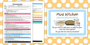 Cinnamon Spiced Mud Bread EYFS Mud Kitchen Plan - mud kitchen