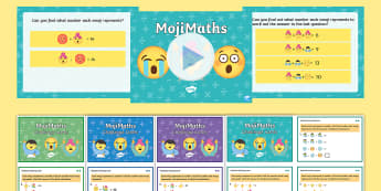LKS2 MojiMaths Resource Pack - Mathemoji, Solvemoji, Emoticon, Emoji, Algebra, moji
