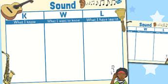 Sound Topic KWL Grid - sound, topic, kwl, grid, know, learn