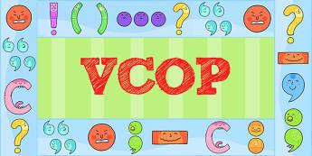 VCOP Display Borders - VCOP, Display, Borders, Grammar