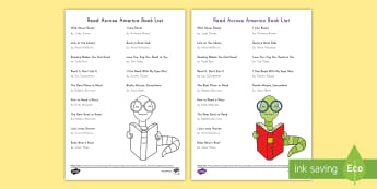 Read Across America Book List - books about reading, books that celebrate reading, March 2nd, early childhood reading list, Pre-Kind