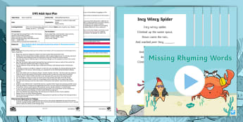 EYFS Missing Rhyming Words Adult Input Plan and Resource Pack - originals, Phonics, rhyme, phase 1, aspect 4, nursery rhymes, Twinkl Fiction, Starry-Eyed Stan,  rhy