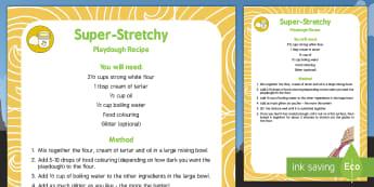 Super-Stretchy Playdough Recipe - Superheroes, superhero, stretch, malleable, gluten, hero, eyfs, early years, malleable