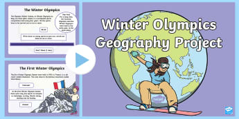 KS1 Winter Olympics Geography Project PowerPoint - south korea, pyeongchang, countries, around the world, flags, nations