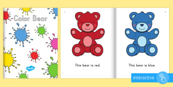 Colors Emergent Reader eBook - colors, color words, color, color bear, emergent reader, ebook, colors emergent reader, colors ebook