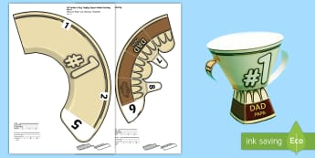 Father's Day Trophy Activity English/German - 3D Fathers Day Trophy Activity - 3d, fathers day, trophy, model, Father's Day, trophy, EAL, German,