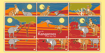 Aboriginal Dreamtime How the Kangaroos Got Their Tails Story Sequencing - australia, aboriginal, dreamtime, how the kangaroos got their tails, story, sequencing