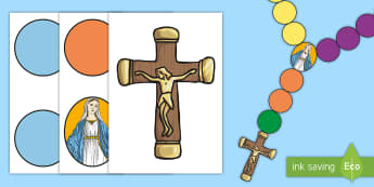 Rosary Beads Class Display Pack - Rosary, month of the holy rosary, Mary, praying the rosary, Rosary display