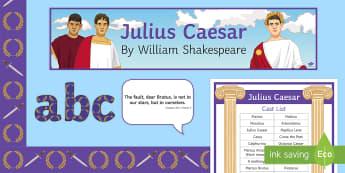 Julius Caesar Display Pack - Julius Caesar, KS4, Shakespeare, KS3