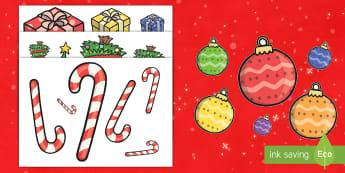 La Navidad Ordenar tamaños - grande, mediano, pequeño, navidad, ordenar, matemáticas, reconocimiento visual. - grande, mediano, pequeño, navidad, ordenar, matemáticas, reconocimiento visual.