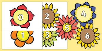 0-31 on Flowers - 0-31, numbers, flowers, display, number display
