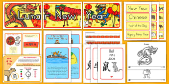 Lunar New Year Resource Pack - chinese new year, dog, year of the dog, china, new year