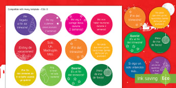 Christmas Adult Stickers - classroom, organisation, end, term, teacher, toolkit