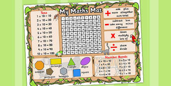 Jungle Themed Maths Mat - Math, Mat, Numeracy, Aid, Jungle