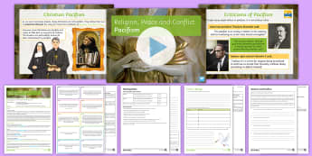 Pacifism Lesson Pack - Pacifism; Christianity; Quakers; War