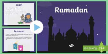 KS1 Ramadan Information PowerPoint - ramadan, information, powerpoint