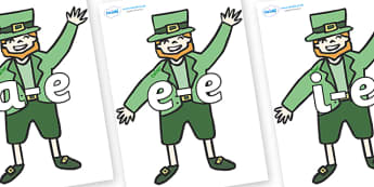 Modifying E Letters on Leprechauns - Modifying E, letters, modify, Phase 5, Phase five, alternative spellings for phonemes, DfES letters and Sounds