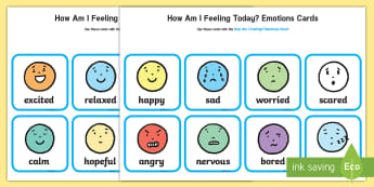 How Am I Feeling? Emotions Cards - personal, social, emotional, feelings, family