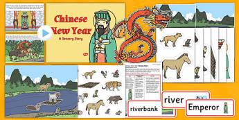 Chinese New Year Sensory Story Pack - chinese new year, sensory story, pack, sensory, story