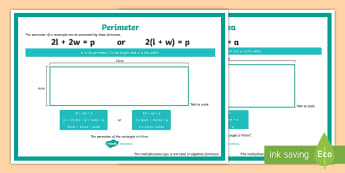 Area and Perimeter of Rectangular Shapes Formula Display Poster - algebra, simple formula, simple formulae, working wall, maths display, shape, properties of shape