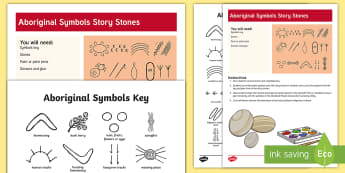 Aboriginal Symbols Story Stones Activity - indigenous peoples day, native peoples, story stones, aboriginal symbols, story telling