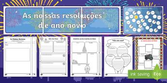 Pacote de Ano Novo - ano novo, festa, celebracao, boas entradas, contagem, ano, novo