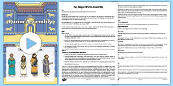 Purim Assembly PowerPoint and Script Pack - Purim, jewish, judaism