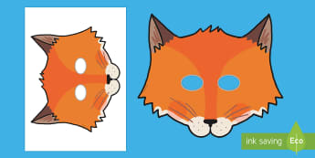 Fantastic Fox Role Play Masks - fantastic, fox, roald dahl, book week, world book day, book day,  foxes, wildlife, character,