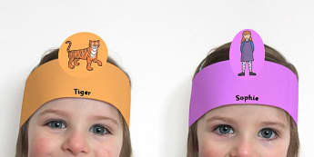 The Tiger Who Came to Tea Role Play Headbands - roleplay, props