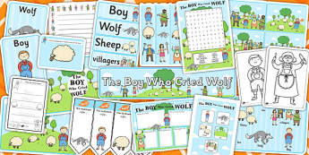The Boy Who Cried Wolf Resource Pack - Aesop's fables, stories