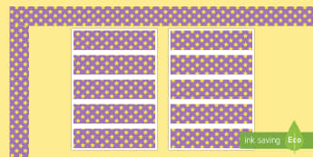 Purple and Yellow Stars Display Borders -  purple, yellow, display lettering, display letters, lettering, display alphabet, lettering for disp