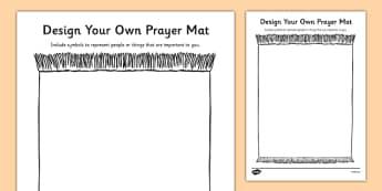 Religious Symbols and Beliefs Design a Prayer Mat Activity - RE