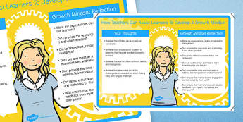 How Teachers Can Assist Learners to Develop a Growth Mindset - teacher information, support, KS2, key stage 2, growth, learning