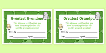 Grandparents Day Certificate