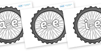 Modifying E Letters on Wheels - Modifying E, letters, modify, Phase 5, Phase five, alternative spellings for phonemes, DfES letters and Sounds