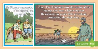 Tír na nÓg Phrases Display Posters - Tír na nÓg, Ireland, Myths, Legends, Na Fianna, Fionn, Oisín, Niamh, History,Irish