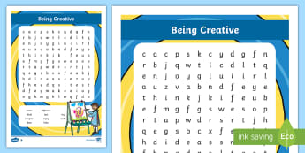 NI Thinking Skills and Personal Capabilities Being Creative Differentiated Word Search - TSPC, Success Criteria, Northern Ireland, Curriculum, Targets