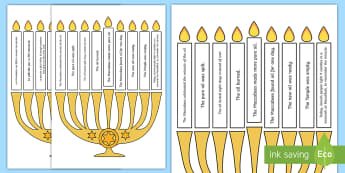 Light the Candle Hanukkah Puzzle English/French - Light the Candle Hanukkah Puzzle - hanukkah, puzzle, candle, chanukka,