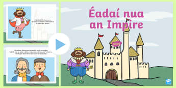 The Emperor's New Clothes PowerPoint - The Emperors New Clothes Gaeilge ROI, éadaí nua an impire,Irish