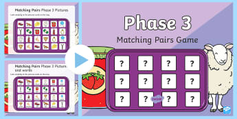 * NEW * Matching Pairs Phase 3 Letters and Sounds Memory PowerPoint Game - Letters and Sounds, letters and sounds resources, free letters and sounds resources, phonics, phonic