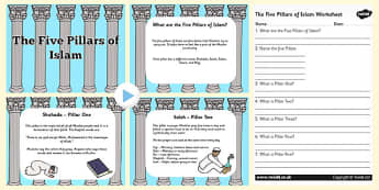 The Five Pillars of Islam PowerPoint and Worksheet Pack