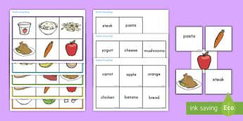Healthy Eating Food Bingo - food, healthy, bingo, unhealthy, game, activity
