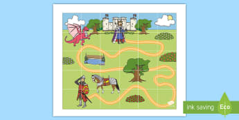 King and Knight Bee-Bot Mat  - Bee Bots Mat - activity mat, bee bot activities, beebot, bee bot, beebots, Bee-not, fantasty, mediev