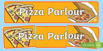 Pizza Parlour Role Play Banner