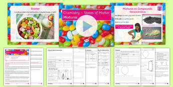 States of Matter Lesson 5: Mixtures - particles, particle model, mixtures, compounds, air,