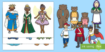 Storytelling Stick Puppets - National Storytelling week, Traditional Tales, Fairy Tales.