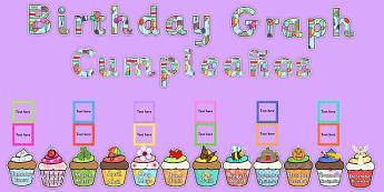 Birthday Graph Display Pack Spanish Translation - spanish, birthday, graph, display pack, pack