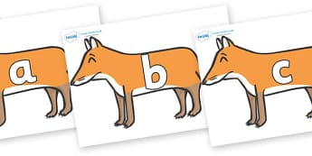 Phase 2 Phonemes on Foxes - Phonemes, phoneme, Phase 2, Phase two, Foundation, Literacy, Letters and Sounds, DfES, display